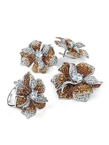 Эффектные серьги с кристаллами Jungle, фото , изображение 5