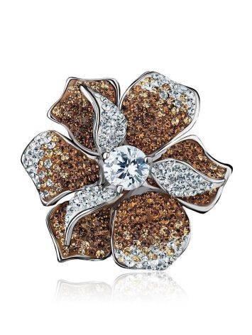 Восхитительное коктейльное кольцо с кристаллами Jungle, Размер кольца: 18, фото , изображение 4