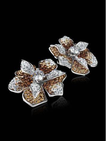 Эффектные серьги с кристаллами Jungle, фото , изображение 2