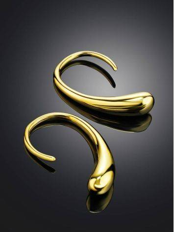 Яркие и необычные серьги из позолоченного серебра Liquid, фото , изображение 2