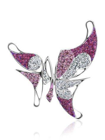 Роскошная серебряная подвеска в форме бабочки Jungle, фото