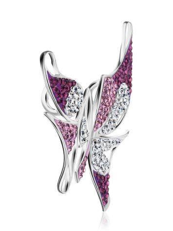 Роскошная серебряная подвеска в форме бабочки Jungle, фото , изображение 4