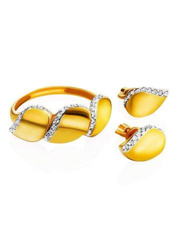 Аккуратные позолоченные серьги-гвоздики, фото , изображение 3
