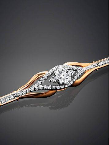 Шикарный золотой браслет с россыпью бриллиантов, фото , изображение 2