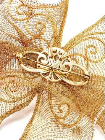 Дизайнерская золотая брошь в виде бабочки, фото , изображение 3