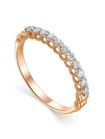 Восхитительное бриллиантовое кольцо в золоте, Размер кольца: 17.5, фото