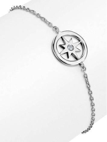Серебряный браслет на цепочке Enigma, фото , изображение 3
