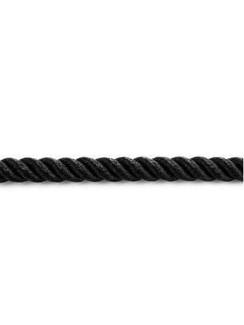 Черный шнур с серебряной застежкой, Длина: 45, фото , изображение 4