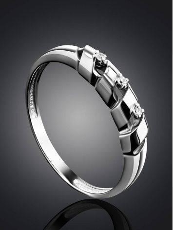 Бриллиантовое кольцо в белом золоте, Размер кольца: 16.5, фото , изображение 2