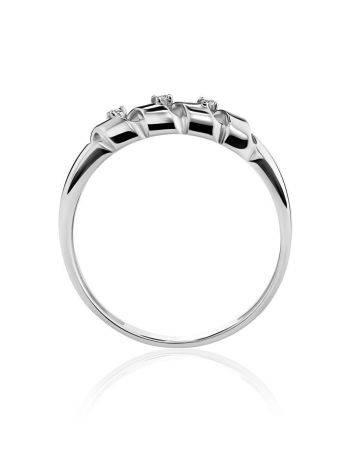 Бриллиантовое кольцо в белом золоте, Размер кольца: 16.5, фото , изображение 3