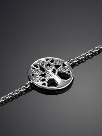 Серебряный браслет на цепочке Enigma, фото , изображение 2