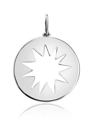 Круглый серебряный кулон Enigma, фото