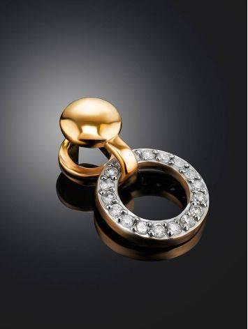 Стильная золотая подвеска с бриллиантами, фото , изображение 2