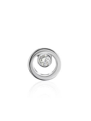 Круглая золотая подвеска с бриллиантом, фото