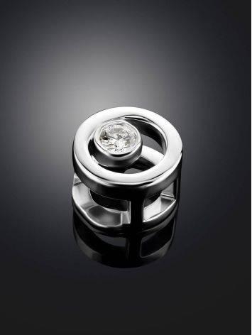 Круглая золотая подвеска с бриллиантом, фото , изображение 2