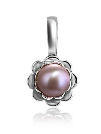 Нежный серебряный кулон с жемчугом, фото