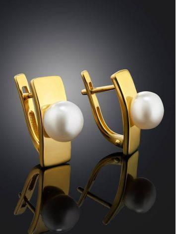 Элегантные жемчужные серьги, фото , изображение 2