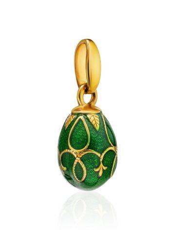 Миниатюрное позолоченное яйцо-шарм с эмалью Romanov, фото , изображение 3