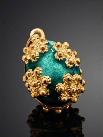 Яркое позолоченное яйцо-шарм с эмалью Romanov, фото , изображение 2