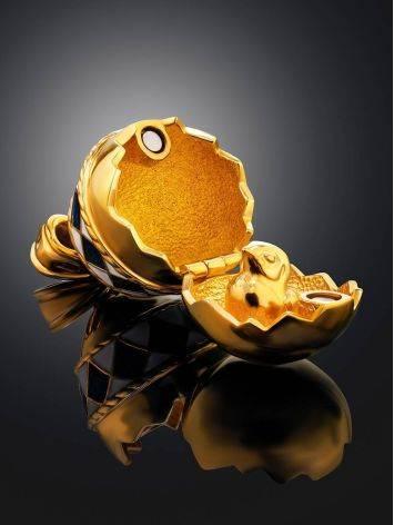Потрясающее позолоченное яйцо-подвеска с двухцветной эмалью, фото , изображение 2