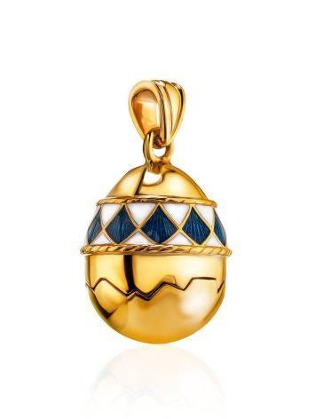 Потрясающее позолоченное яйцо-подвеска с двухцветной эмалью, фото , изображение 3