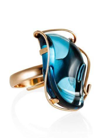 Нарядное кольцо из золота с топазом Лондон «Серенада» б/р, Размер кольца: б/р, фото